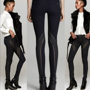 New rag & bone ribbon high-waisted skinny jeans